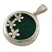 مدال نقره عقیق طرح شهین