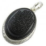 مدال نقره حدید صینی حکاکی مذهبی