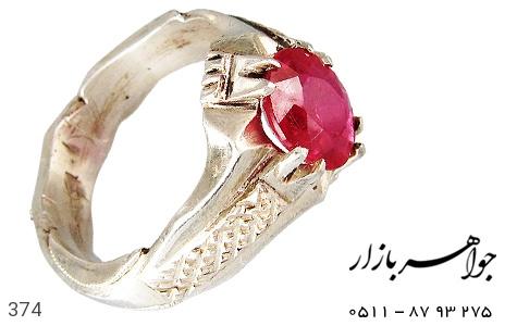 عکس انگشتر یاقوت سرخ مرغوب مردانه