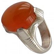 انگشتر نقره عقیق یمن چهارچنگ حکاکی شرف الشمس مردانه