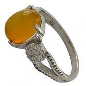 انگشتر نقره عقیق شرف الشمس زنانه