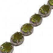 دستبند نقره الکساندریت زولتنایت پرنسسی زنانه