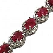 دستبند نقره یاقوت اشرافی زنانه