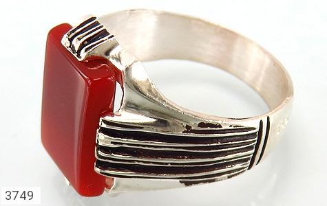 انگشتر نقره عقیق قرمز درشت - 3749