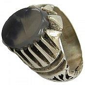 انگشتر نقره عقیق شجر طبیعی مردانه