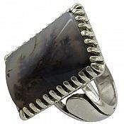 انگشتر نقره عقیق شجر طبیعی درشت و شاهانه مردانه