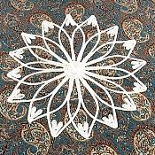 ترمه رومیزی ربان دوزی شده طرح سنتی
