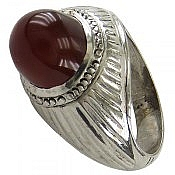 انگشتر نقره عقیق شاهانه مردانه