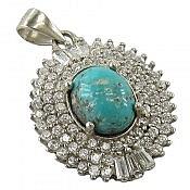 مدال نقره فیروزه نیشابوری اشرافی