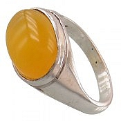 انگشتر نقره عقیق حکاکی شرف الشمس مردانه