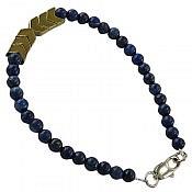 دستبند لاجورد و حدید طرح هانی زنانه