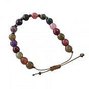 دستبند عقیق و حدید طرح شادی زنانه