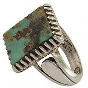 انگشتر نقره فیروزه نیشابوری درشت مردانه