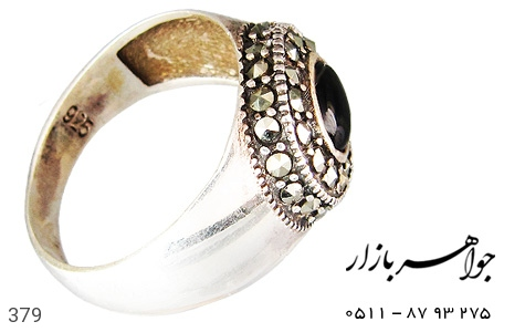 انگشتر نقره مردانه - 379