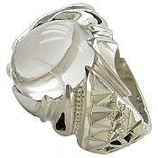 انگشتر نقره در نجف شفاف و سلطنتی مردانه