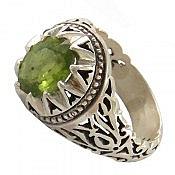 انگشتر نقره زبرجد ارزشمند مردانه