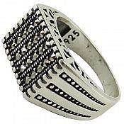 انگشتر نقره شیک مردانه