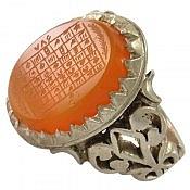 انگشتر نقره عقیق یمن شرف الشمس حکاکی هفت شرف مردانه