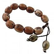 دستبند حکاکی الله و محمد زنانه