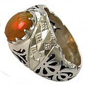 انگشتر نقره اپال فاخر و شاهانه مردانه