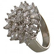 انگشتر نقره سولیتر طرح بارانا زنانه