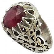انگشتر نقره یاقوت آفریقایی سلطنتی مردانه