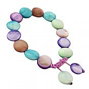 دستبند صدف شیک و رنگارنگ زنانه