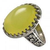 انگشتر نقره عقیق شرف الشمس خوش نقش مردانه