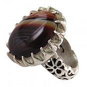 انگشتر نقره عقیق سلیمانی مردانه