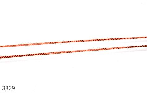 عکس زنجیر نقره ایتالیا 40 سانتی مسی