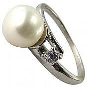 انگشتر نقره مروارید ظریف و زیبا زنانه