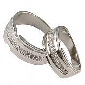 حلقه ازدواج نقره اسپرت