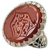 انگشتر نقره عقیق حکاکی یا مظلومه یا زهرا مردانه