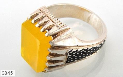 عکس انگشتر عقیق شرف الشمس دست ساز مردانه
