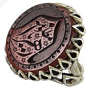 انگشتر نقره عقیق حکاکی یا زهرا یا مظلومه مردانه