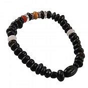 دستبند جید و کهربا و عقیق و دلربا زنانه