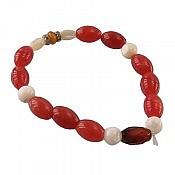 دستبند صدف و کهربا و عقیق طرح شیدا زنانه