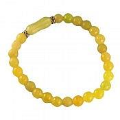 دستبند شاه مقصود و جید زرد زنانه