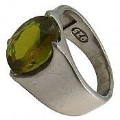انگشتر نقره الکساندریت زولتنایت هفت رنگ مردانه