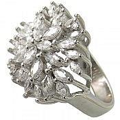 انگشتر نقره سولیتر طرح شکوه زنانه