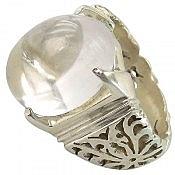 انگشتر نقره در نجف شفاف و شاهانه مردانه دست ساز