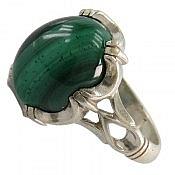 انگشتر نقره مالاکیت سلطنتی مردانه