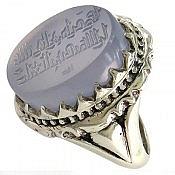 انگشتر نقره عقیق یمن حکاکی افوض امری الی الله ان الله بصیر بالعباد مردانه