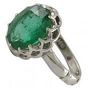 انگشتر نقره جیپسوم شاهانه مردانه