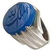 انگشتر نقره عقیق حکاکی الملک لله مردانه دست ساز