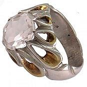 انگشتر نقره در نجف الماس تراش طرح اشکی مردانه