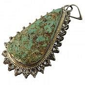 مدال نقره فیروزه نیشابوری فاخر دست ساز