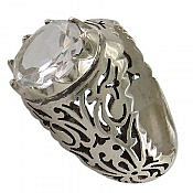انگشتر نقره در نجف زلال و شفاف مردانه
