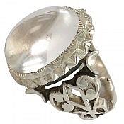 انگشتر نقره در نجف شفاف و شاهانه مردانه