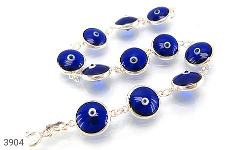 عکس دستبند نقره چشم زخم سایز 1 زنانه